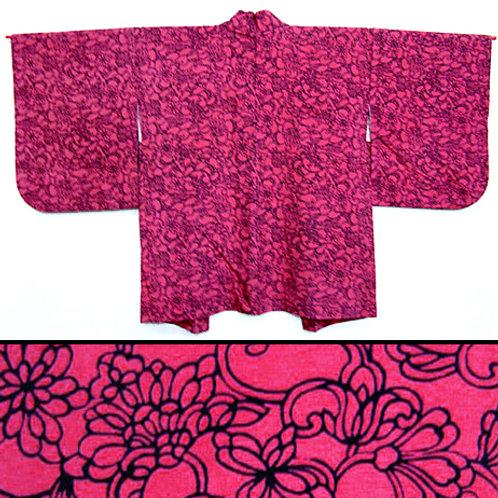 Pink & Black Silk Haori