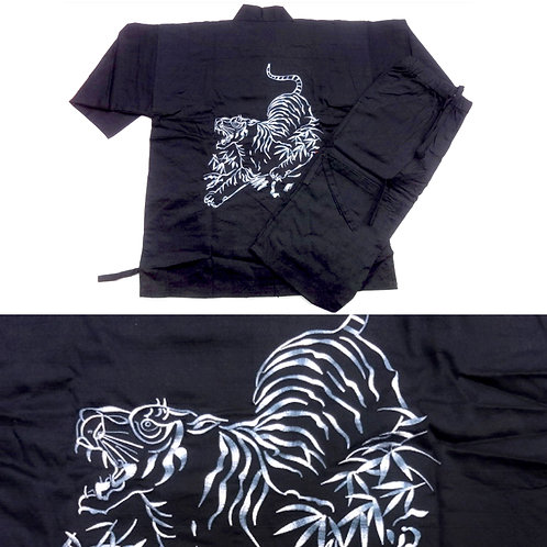 Embroidered Tiger Black Samue - L