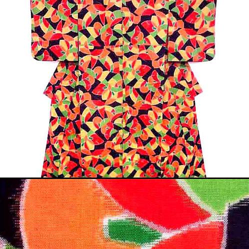 Colourful Fine Wool Kimono