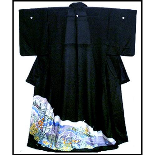 Beautiful Scene - Ro Tomesode Kimono