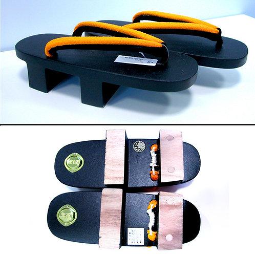 Kansai Yamamoto Geta - Yellow-Orange Black