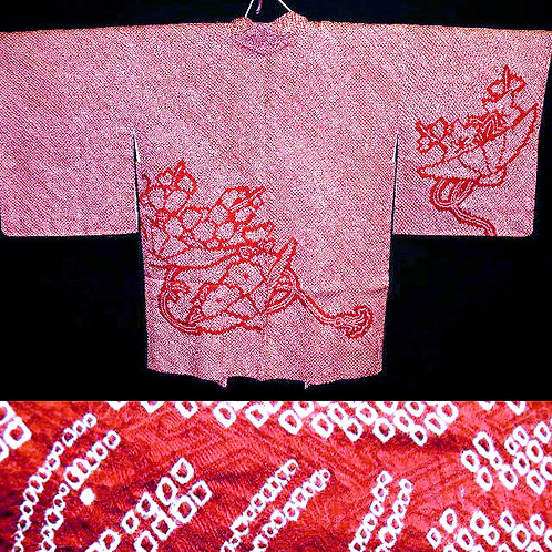 Red Full Shibori Haori