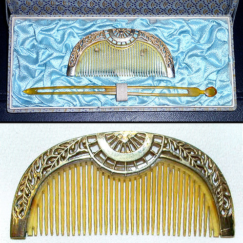 Antique Comb and Kanzashi
