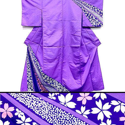 Cherry Blossom Purple Kimono