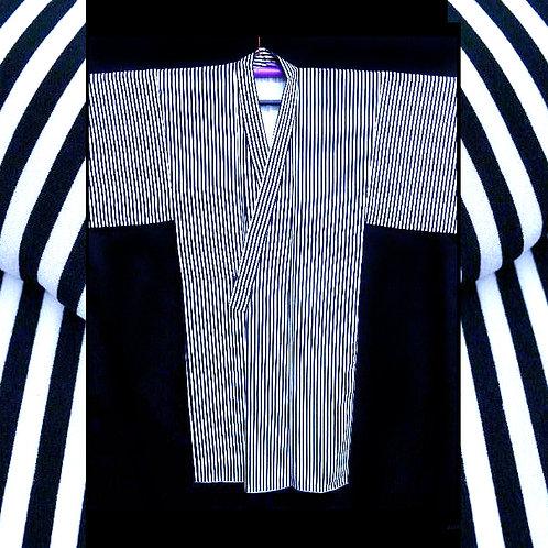 Bold Black & White Kimono