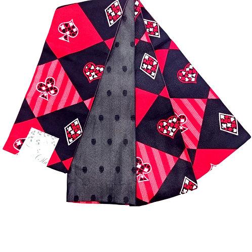 Card Suits Hanhaba Obi - Red & Black