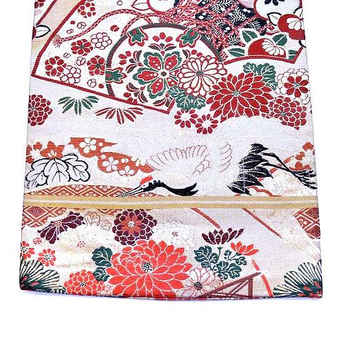 Cranes & Mums Maru Obi