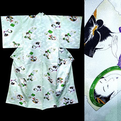 Geisha Senmen Kimono