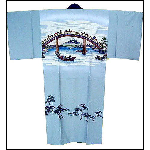 Bridge & Fuji Naga-Juban Kimono