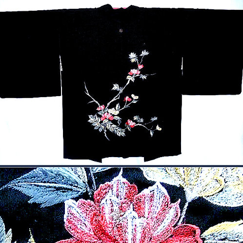 Embroidered Floral Branches Haori