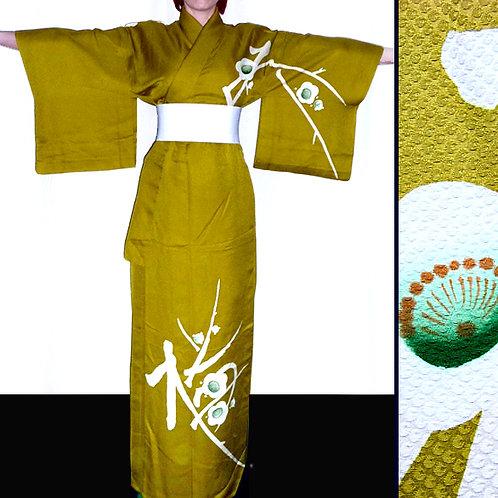 Green Kimono with Ume