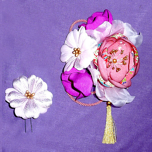 Large Floral comb & Hairpin