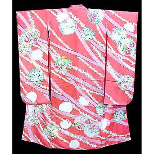 Embroidered Furisode Kimono
