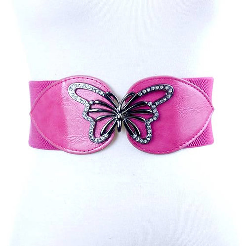 Butterfly Pink Elastic Belt 8-12