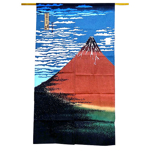 Hokusai's Red Fuji Noren