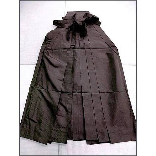 Brown Striped Silk Umanori Hakama