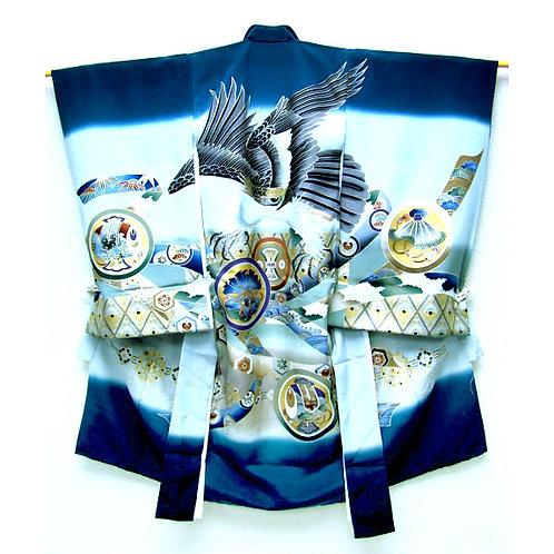 Hawk Ceremonial Silk Kimono & Juban Set