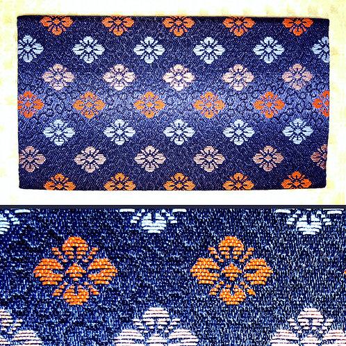 Blue Brocade Japanese Wallet