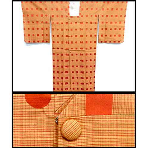 Spots & Squares Silk Ama Coat