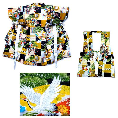 Child's Wool Kimono & Hifu