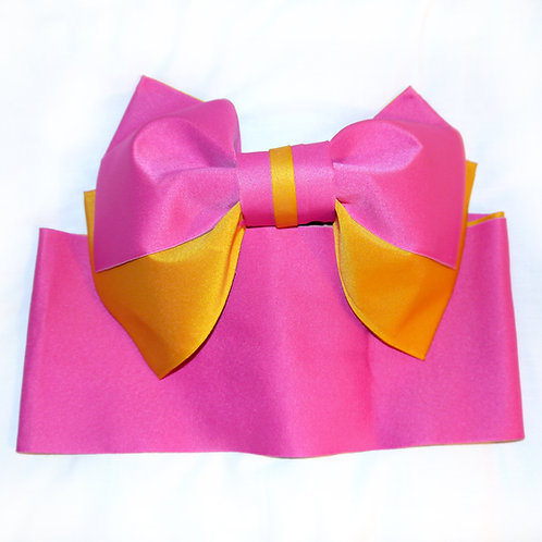 Pink Yellow Bow 2 Part Obi