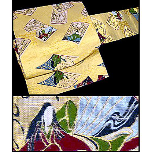 2 Part Golden Hyakunin-Isshu Obi