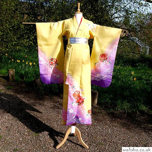 Yellow and Purple Kimono