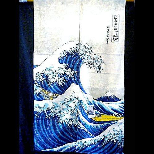 Hokusai Wild Wave Noren