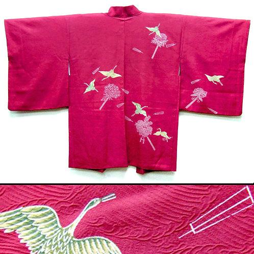 Cranes & Flowers Haori