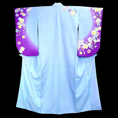 Blue & Purple Ko Furisode