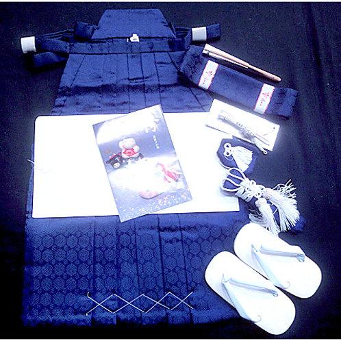 Boy's Blue Hakama Set