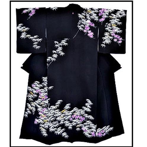 Beautiful Rare Bamboo Branches Kimono