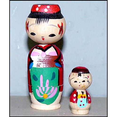 Nesting Kokeshi Doll