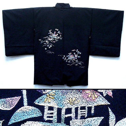 Embroidered Cottages Haori