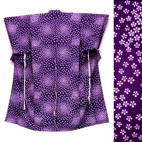 Little Flowers Deep Purple Kimono