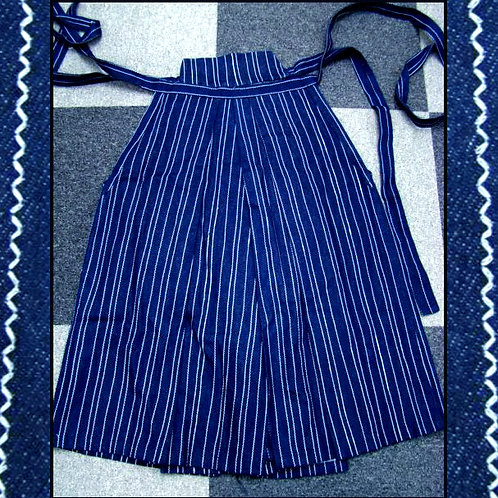Dark Blue Cotton Umanori Hakama