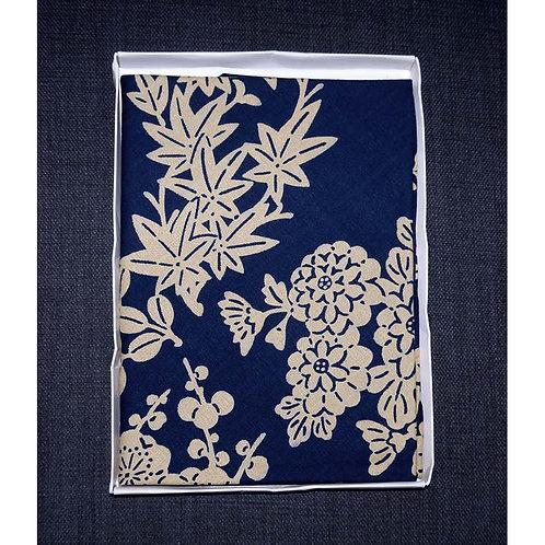 Blue Floral Large Furoshiki