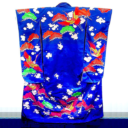 Blue Embroidered Furisode
