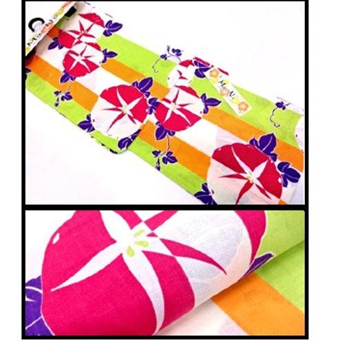 Colourful Morning Glory Yukata Kimono