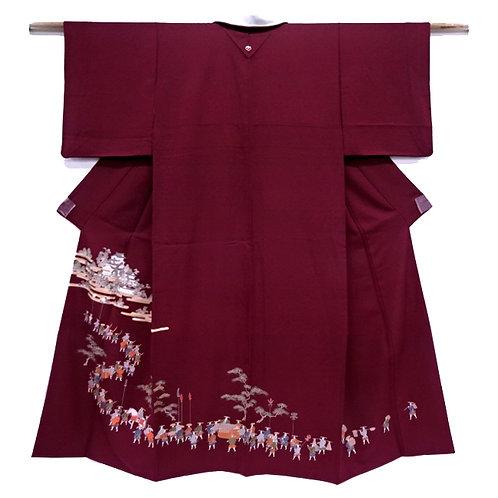 Daimyo Procession Iro Muji Kimono