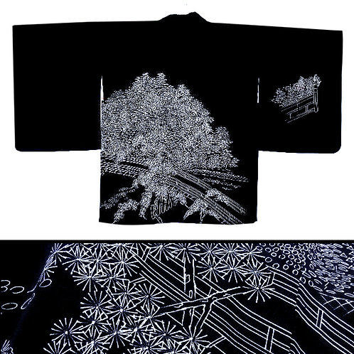 Bridges & Trees Silk Haori
