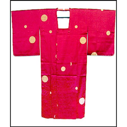 Big Dots Red Ama Kimono Coat