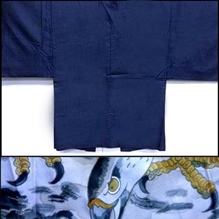Blue Silk & Hawk Lining Haori