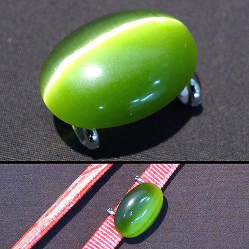 A Green Stone Obijime