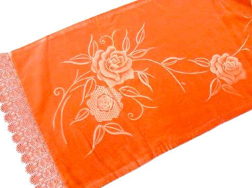 Roses Silk Velvet Shawl / Stole
