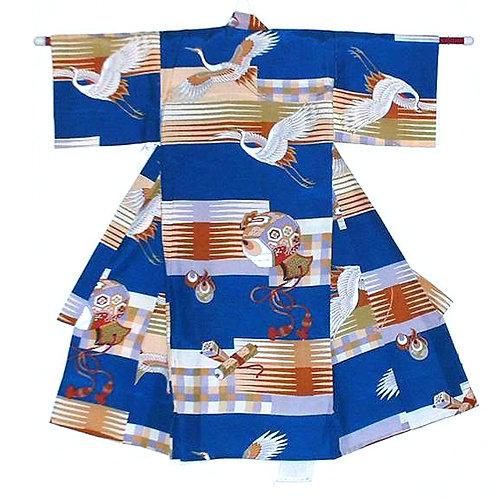 Boy's Lucky Items Silk Kimono