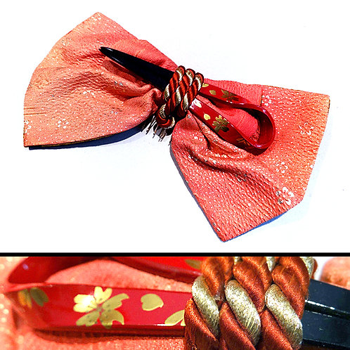 Bow Comb with Kanzashi