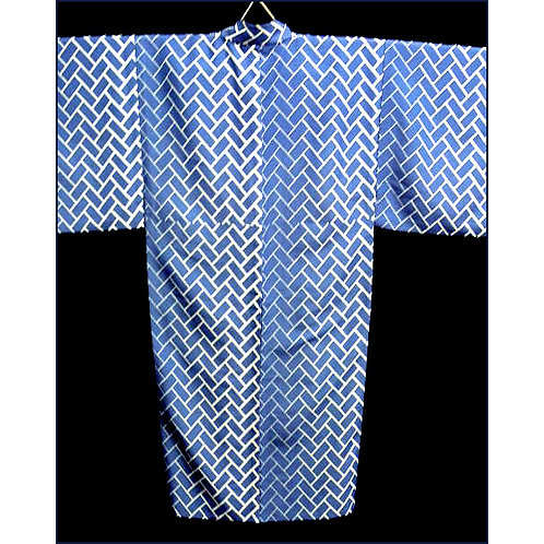 Blue Cypress Fence Kimono