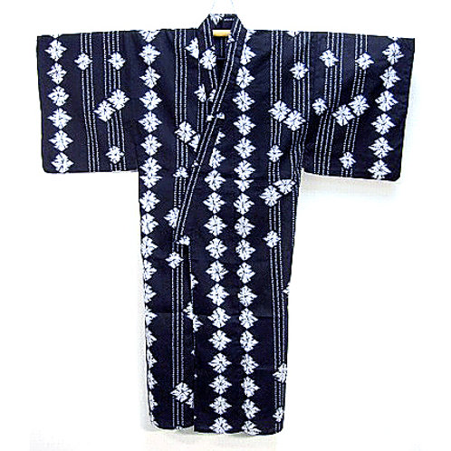 Black & White Shibori Yukata
