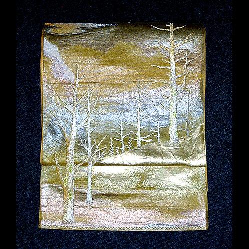 Glinting Winter Forest Fukuro Obi